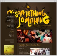 Mr Something Something website