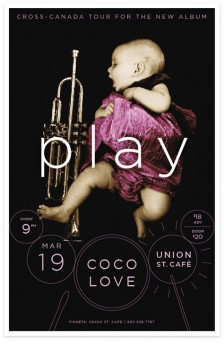 Play tour poster for Coco Love Alcorn