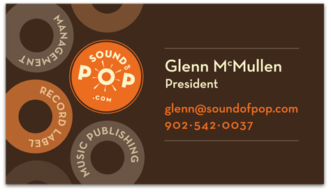 Sound Of Pop business card